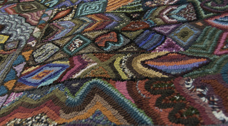 Lovely Guatemalan Hooked Rugs For Sale