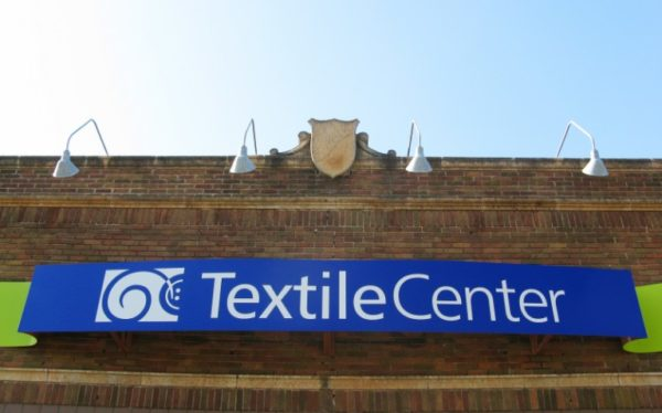Textile Center building sign at 3000 University Ave SE, Minneapolis MN 55414