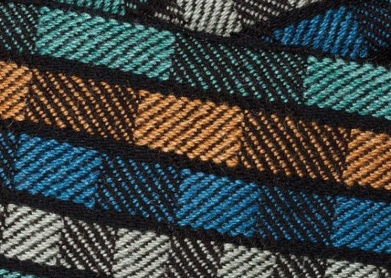 Carol Johnson weaving close up