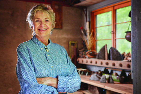 Mary in her studio (photo by Mark LaFavor)